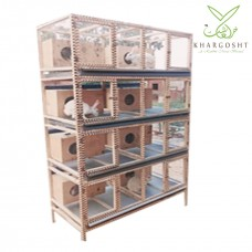 Rabbit Wooden Cage 8 Portion